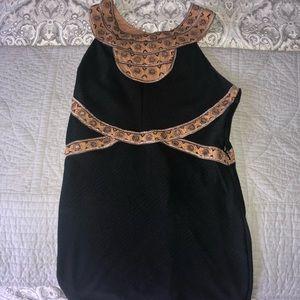 Free People Body Con Black Dress